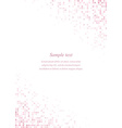 Pink page corner design template vector image vector image