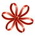 ribbon bow decoration stripes knot circle shape vector image
