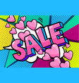 sale message in pop art style vector image vector image
