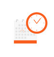 schedule appointment important date concept vector image
