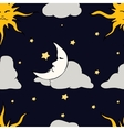 Seamless Pattern with celestial bodies vector image vector image