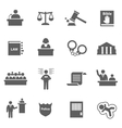 set law icons vector image