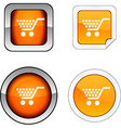 Shopping button set vector image vector image