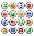 Shopping Icons Colored round buttons vector image vector image