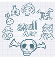 SkullDoodles vector image