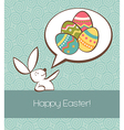 Social Easter bunny with painted egg vector image vector image