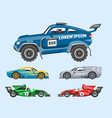 sport race car speed automobile and offroad vector image vector image