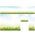 spring website banner collection vector image vector image
