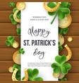 st patricks day greeting holiday design vector image vector image
