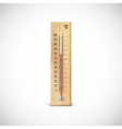 Thermometer on wooden base vector image vector image