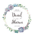 wedding invitation card on white background vector image vector image
