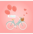 with bike and flowers vector image vector image