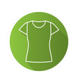 womens t-shirt flat linear long shadow icon vector image vector image