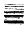 watercolor wet edge brushes set vector image