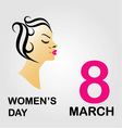 8 march International womens day vector image