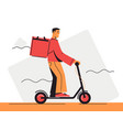 a food delivery courier vector image vector image
