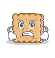 angry biscuit cartoon character style vector image vector image