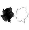 asir region map vector image vector image