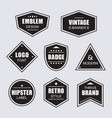 black retro and vintage labels banners icons set vector image vector image