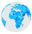 blue mosaic geometric abstract globe vector image