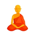 Buddhist monk icon cartoon style vector image vector image
