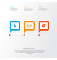 business icons set collection of contract work vector image vector image
