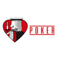 casino card heart king red poker game banner vector image