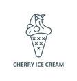 cherry ice cream line icon cherry ice vector image vector image