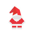 christmas card with origami santa vector image vector image