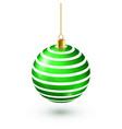 christmas tree shiny green ball new year vector image vector image