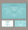 Circular patterns decor on wedding cards vector image