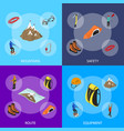 color mountaineering signs 3d banner set isometric vector image vector image