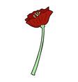 comic cartoon flower vector image vector image