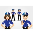 confident policeman and policewoman vector image vector image