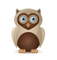 Cute and funny owl character isolated on white