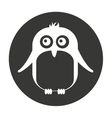 cute penguin animal tender isolated icon vector image vector image