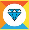 diamond icon colored line symbol premium quality vector image