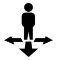 direction choice vector image