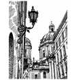 drawing of Lviv Ukraine historical avenue vector image vector image