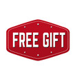 free gift sign or stamp vector image vector image