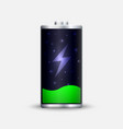 full energy battery charge vector image