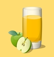 Full glass of apple vector image vector image