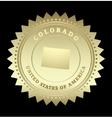 Gold star label Colorado vector image vector image