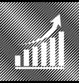 growing graph sign icon hole in moire vector image