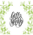 Hello spring lettering typography banner