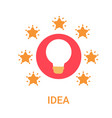 idea business new project icon light bulb vector image