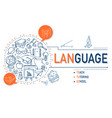 language icons collection design vector image vector image