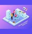 laundry service isometric background vector image vector image