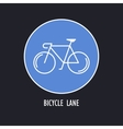 Modern of Bicycles Only Road Sign vector image