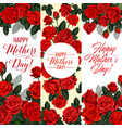 mother day holiday greeting card with rose flower vector image vector image